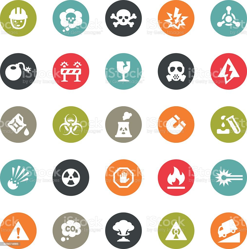 Danger and Destruction icons / Ringico series vector art illustration