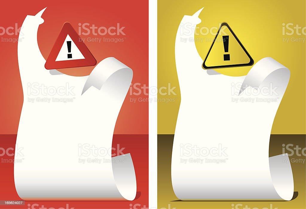 Danger Announcement royalty-free stock vector art