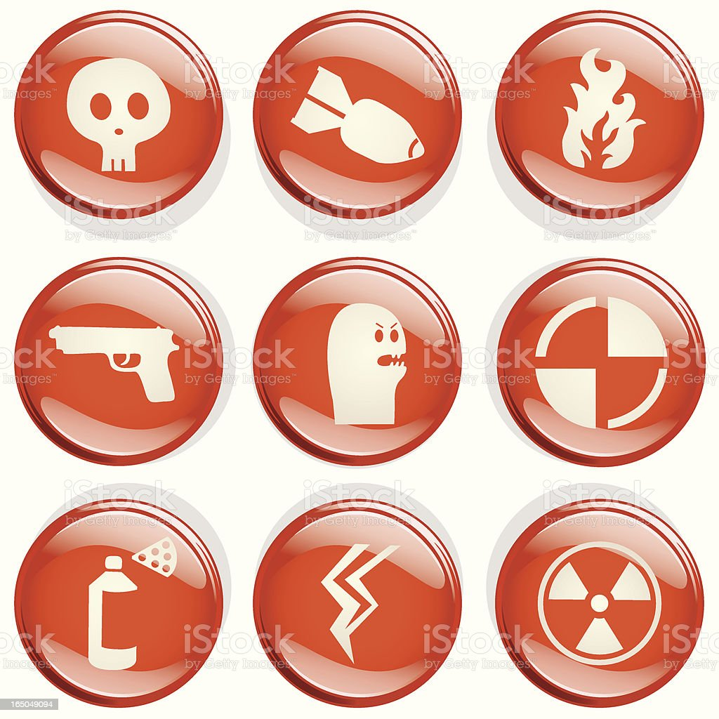 Danger Badges royalty-free stock vector art