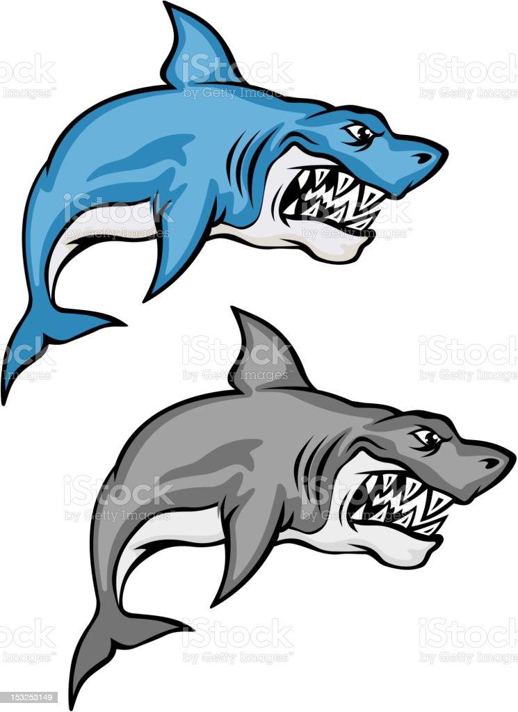 Danger cartoon shark royalty-free stock vector art