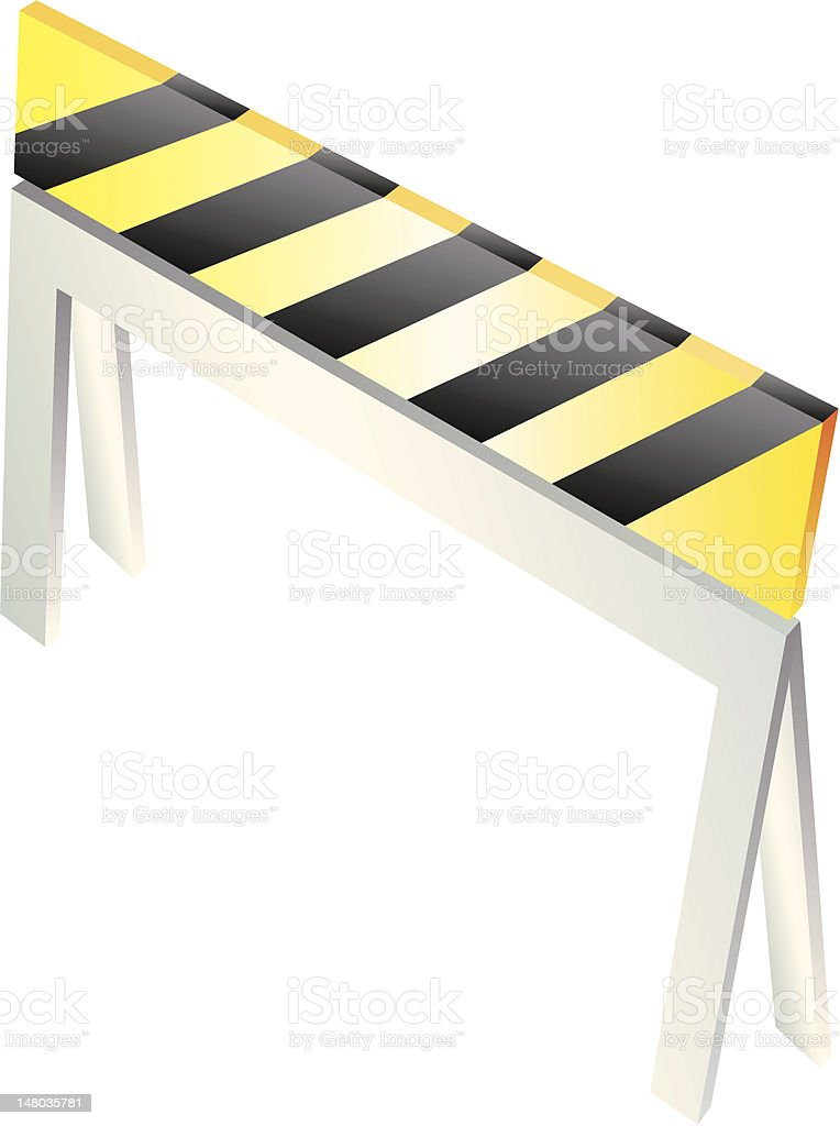 Danger Caution Construction Sign royalty-free stock vector art