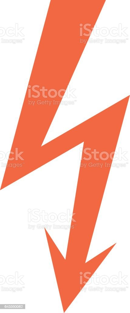 Danger High Voltage Lightning Symbol Warning Sign vector art illustration