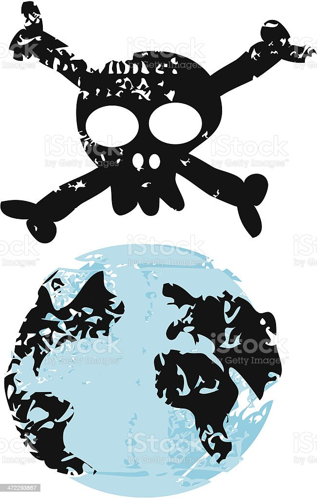 Danger on Earth royalty-free stock vector art