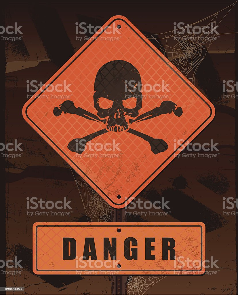Danger Sign royalty-free stock vector art
