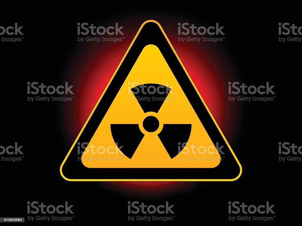 Danger sign with nuke sign vector art illustration