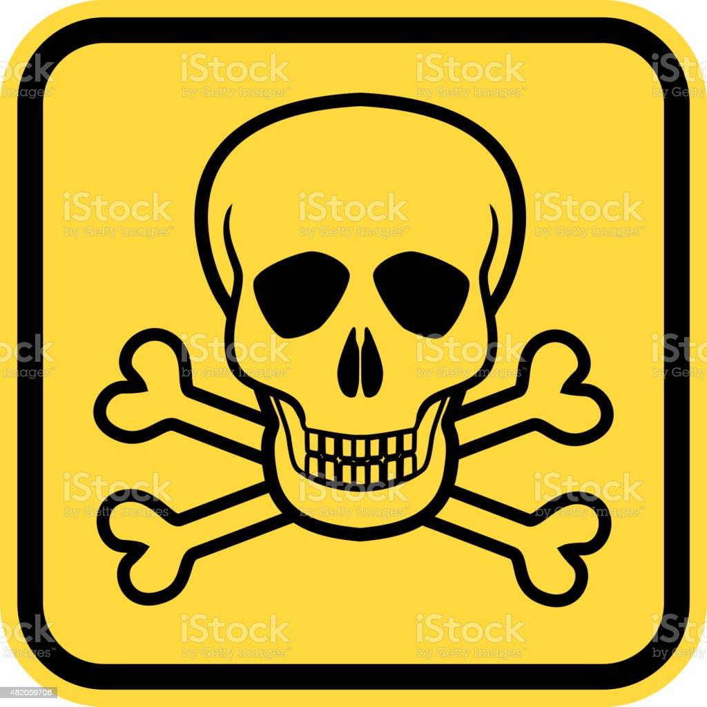 Danger skull vector art illustration