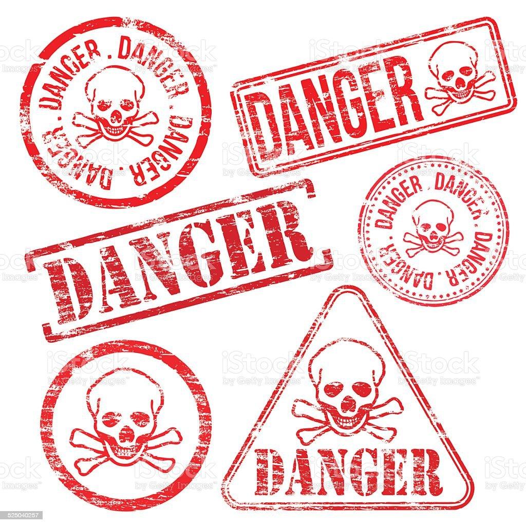 Danger Stamps vector art illustration