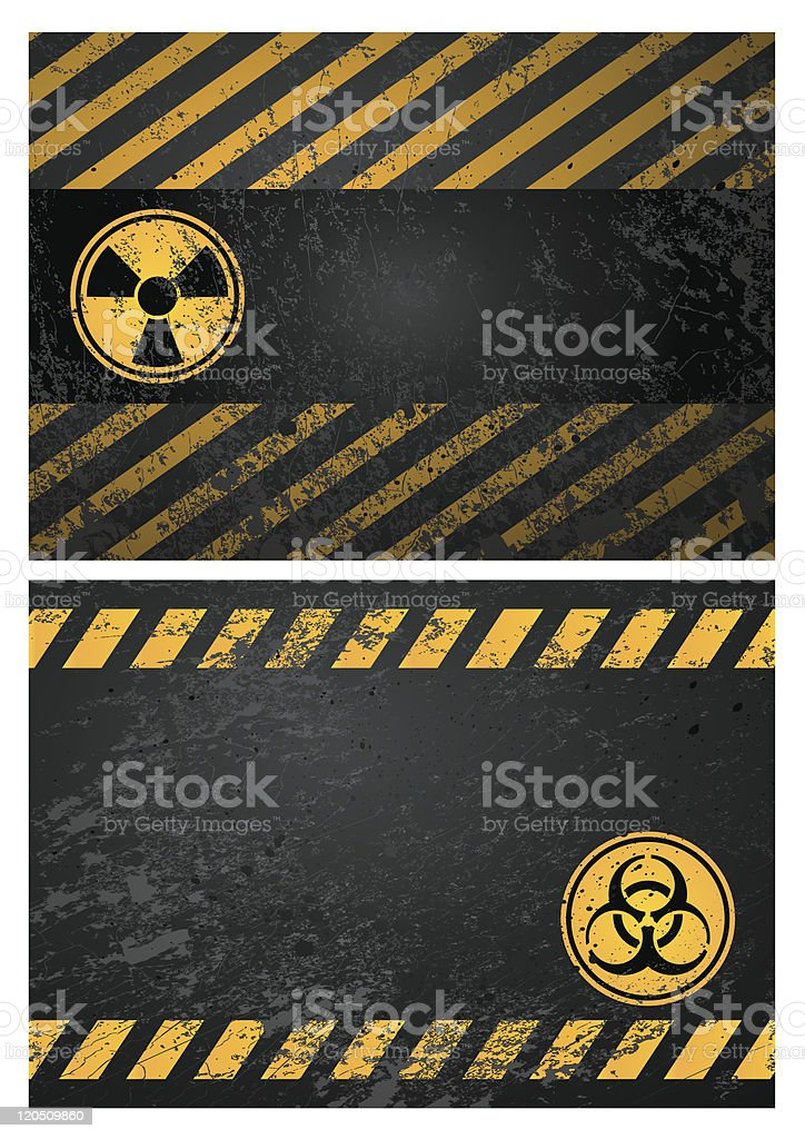 danger warning background royalty-free stock vector art