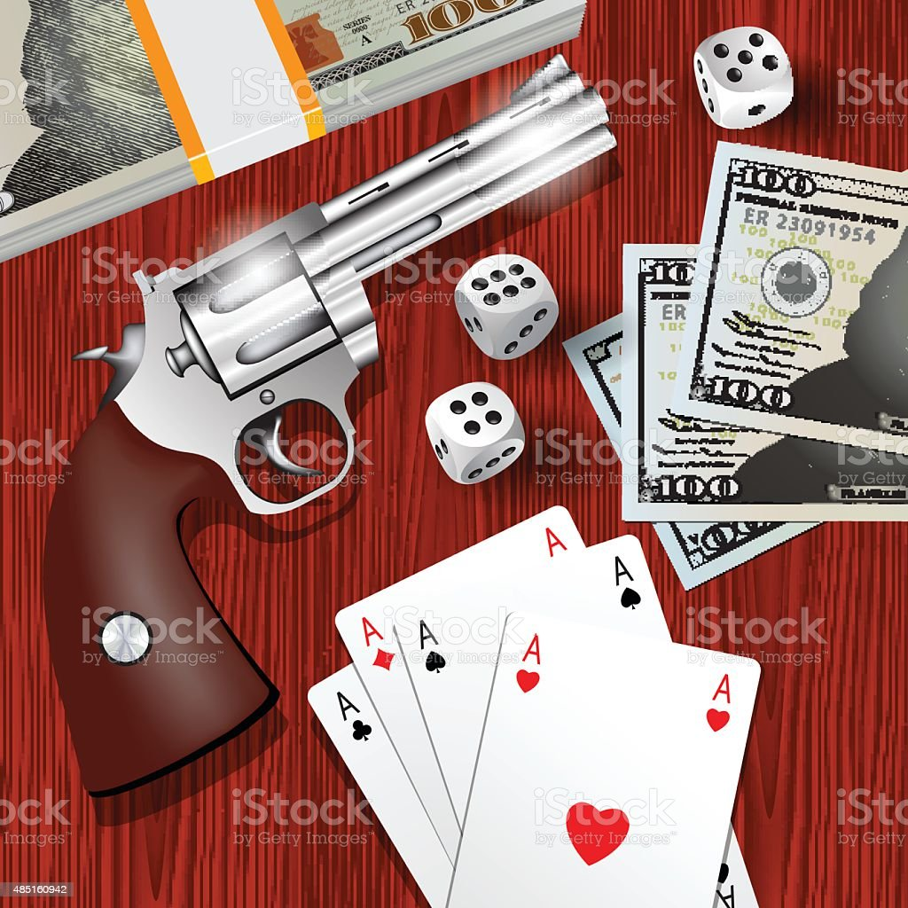 Dangerous game vector art illustration