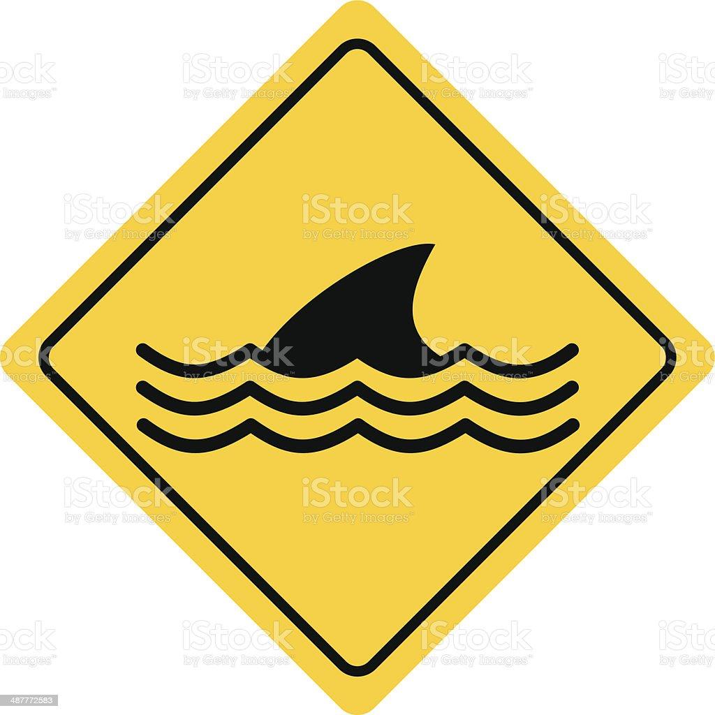 Dangerous Sea Life Sign vector art illustration