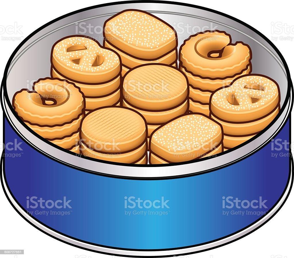 Danish Cookies royalty-free stock vector art