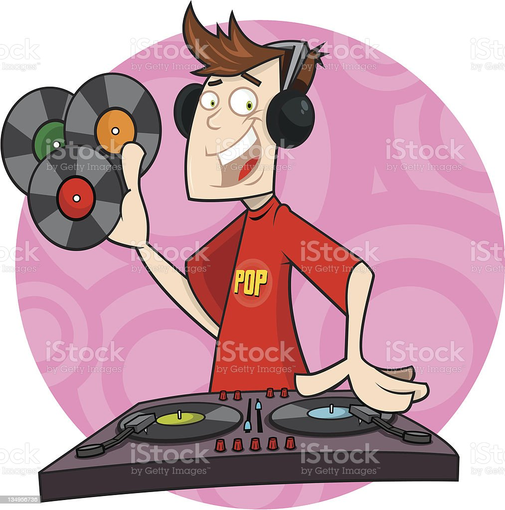 DJ Danny royalty-free stock vector art