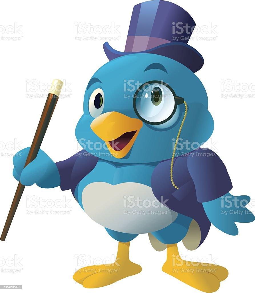 Dapper Bird royalty-free stock vector art