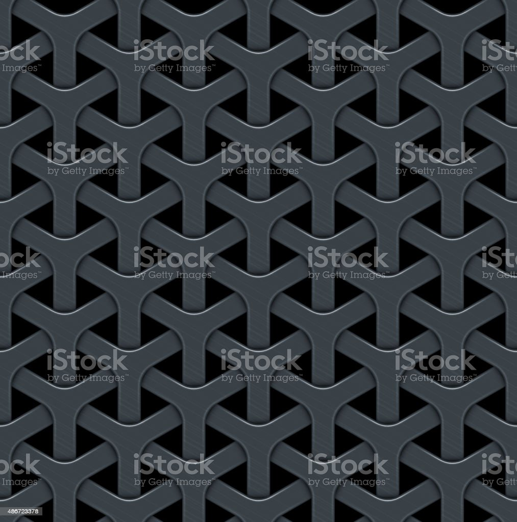 Dark abstract vector background with a metal grid. vector art illustration