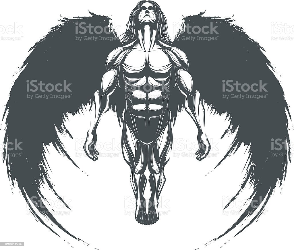 Dark Angel royalty-free stock vector art
