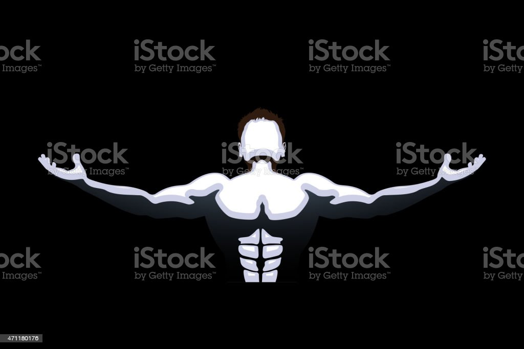 dark athlete vector art illustration