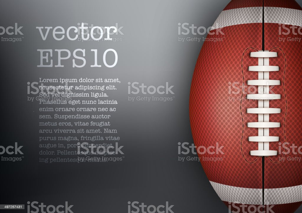 Dark Background of American Football ball. Vector Illustration. vector art illustration