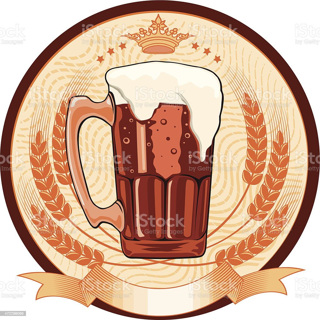 Dark beer emblem royalty-free stock vector art