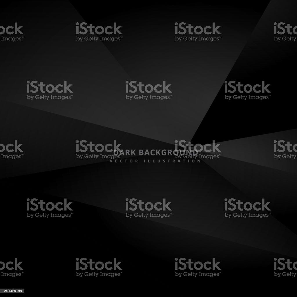 dark black 3d background vector art illustration