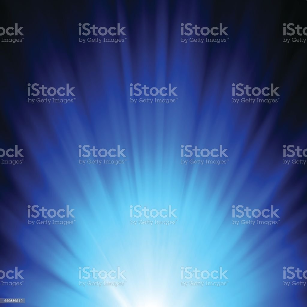 Dark Blue Abstract Background with Rays of Light vector art illustration