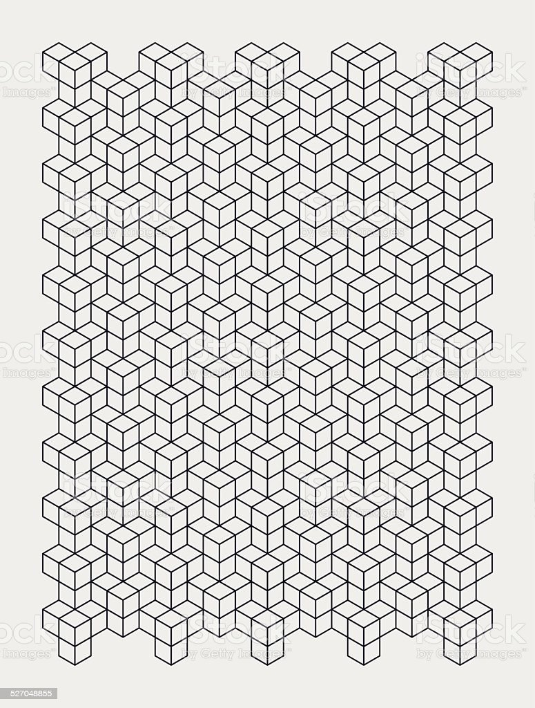 dark blue outline of building blocks vector art illustration