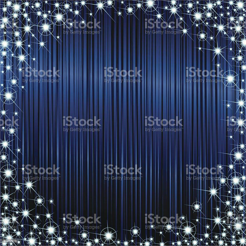 Dark blue sparkly frame royalty-free stock vector art