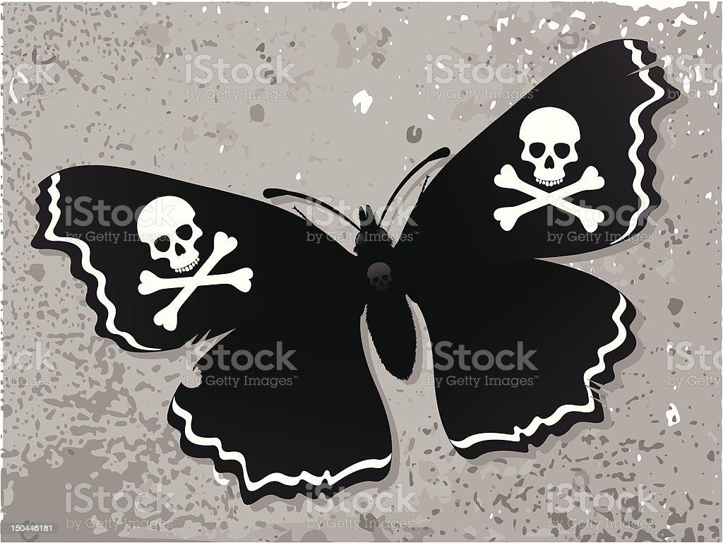 Dark butterfly royalty-free stock vector art
