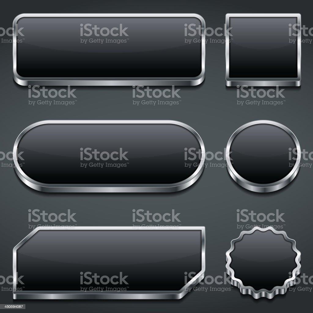 Dark Buttons royalty-free stock vector art