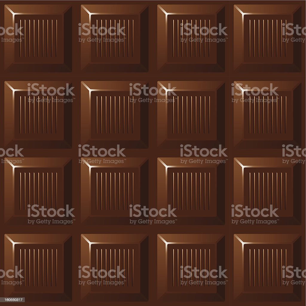 Dark chocolate vector art illustration
