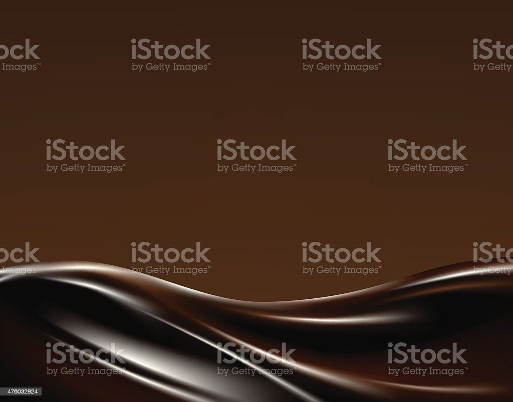 Dark chocolate wave vector art illustration