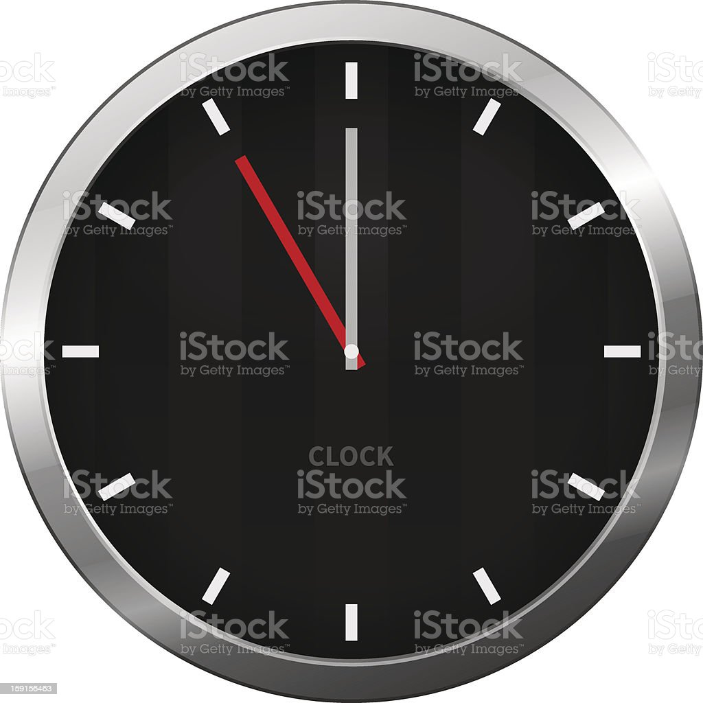 Dark Clock royalty-free stock vector art