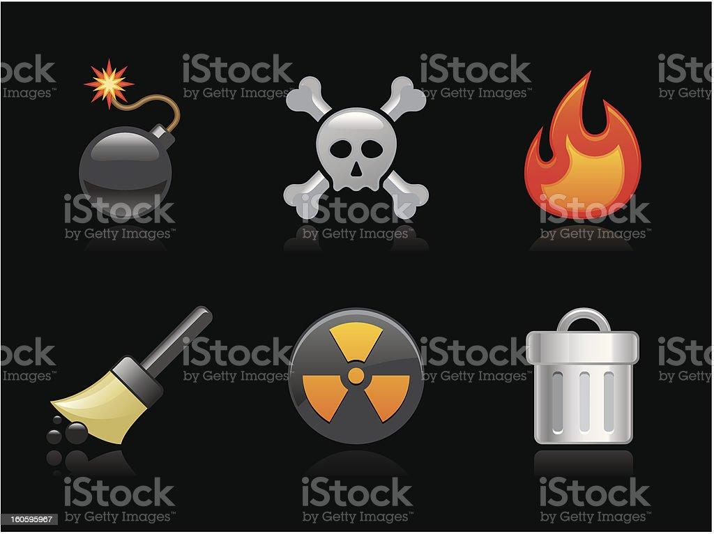 Dark collection - Destruction royalty-free stock vector art