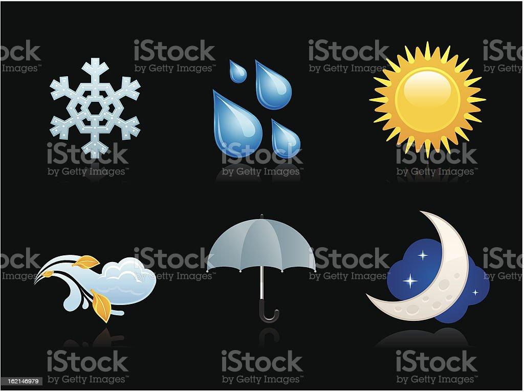 Dark collection - Precipitation royalty-free stock vector art