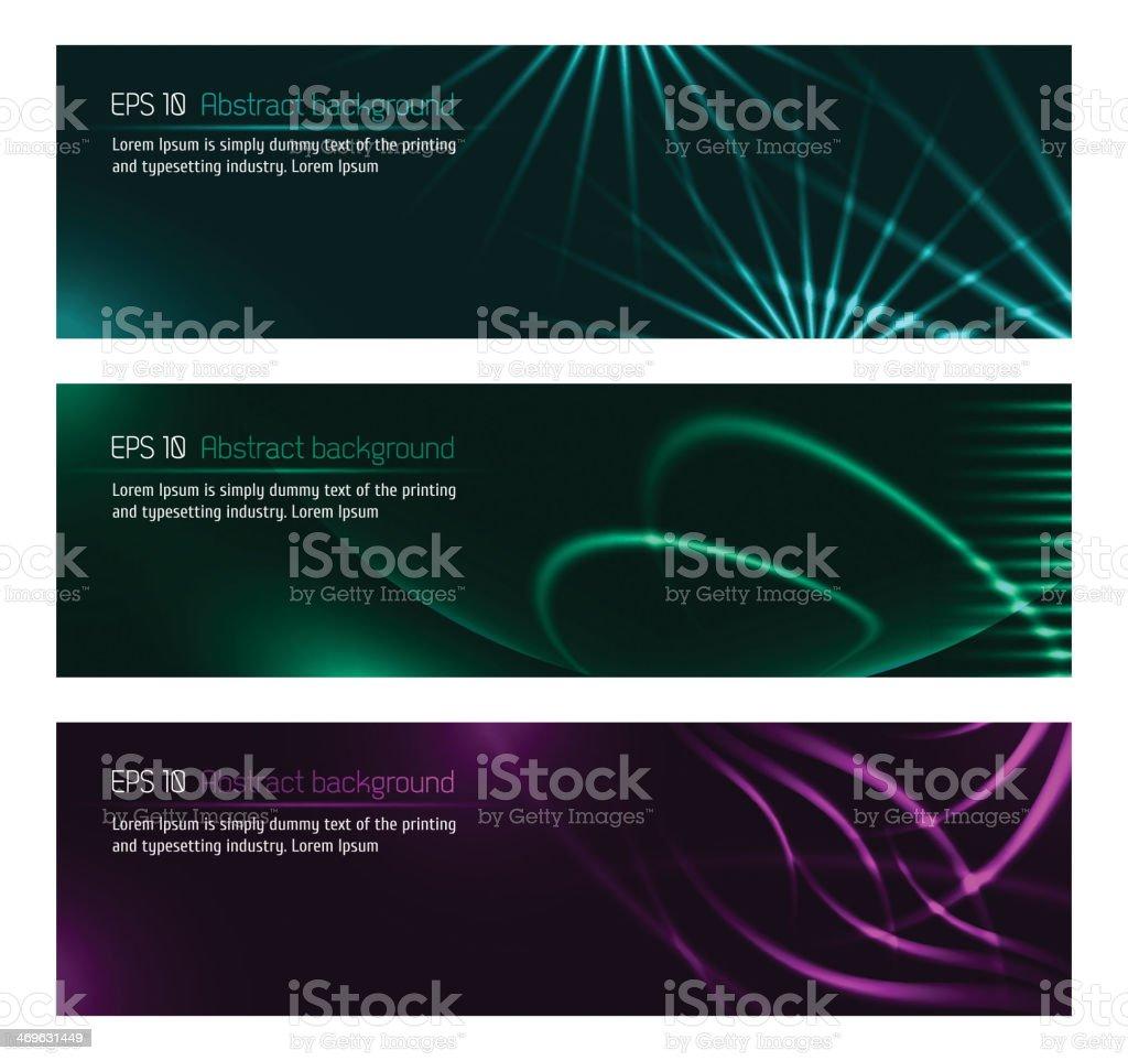 Dark design banners template for you designs vector art illustration