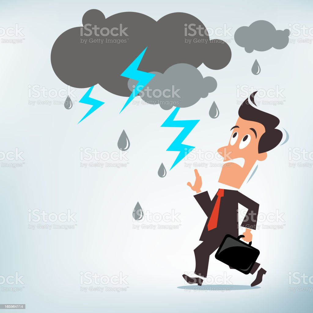 Dark Forecast Ahead vector art illustration