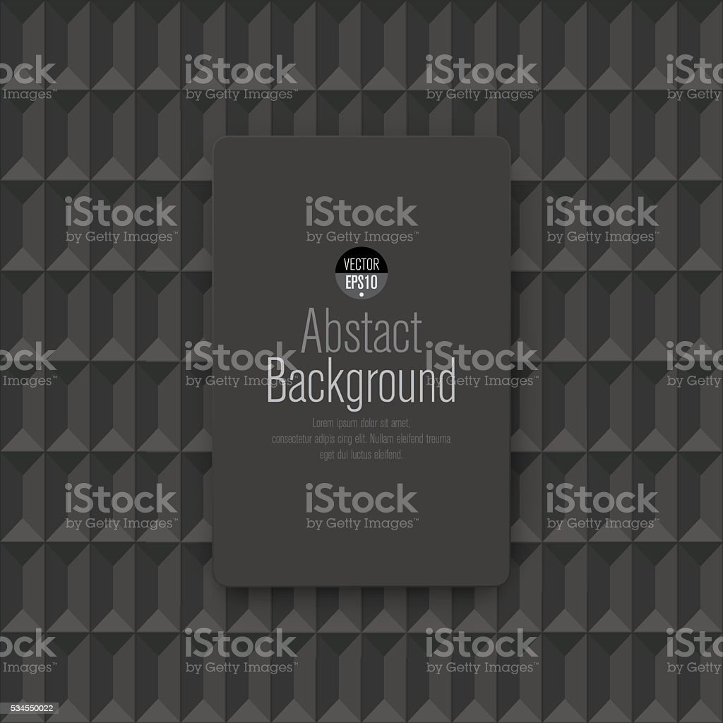 Dark gray geometric texture. Vector background. vector art illustration