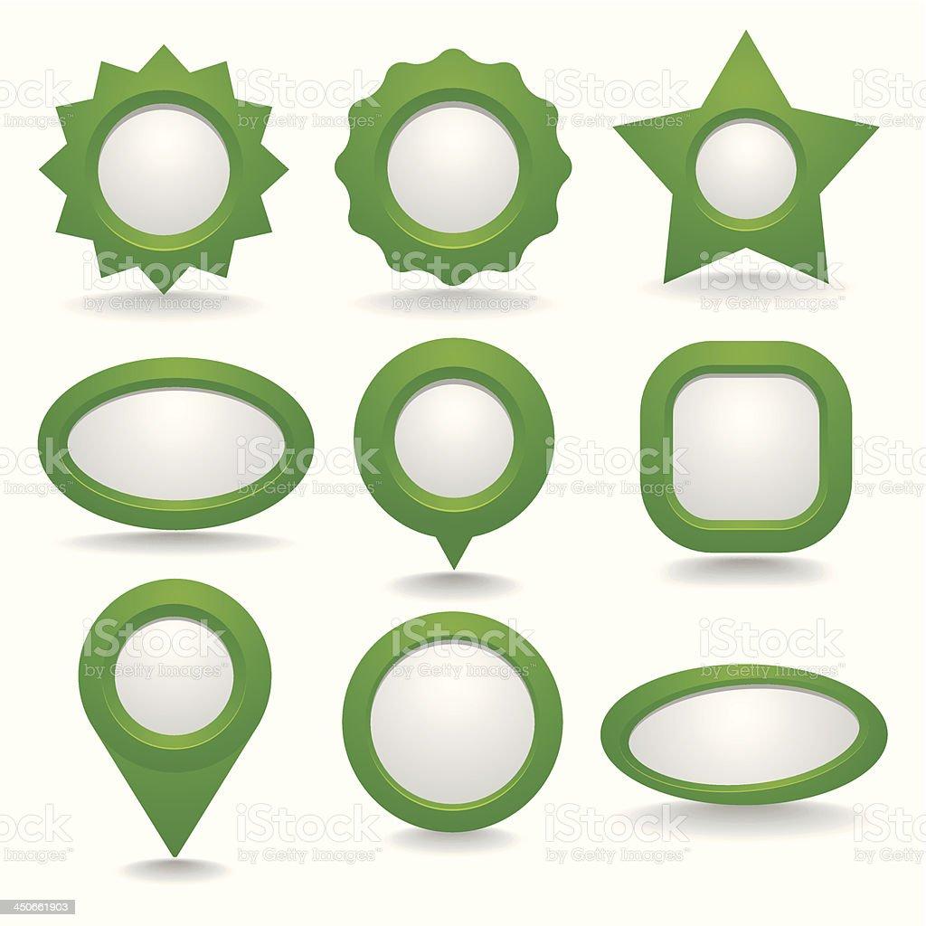 Dark green button collection royalty-free stock vector art