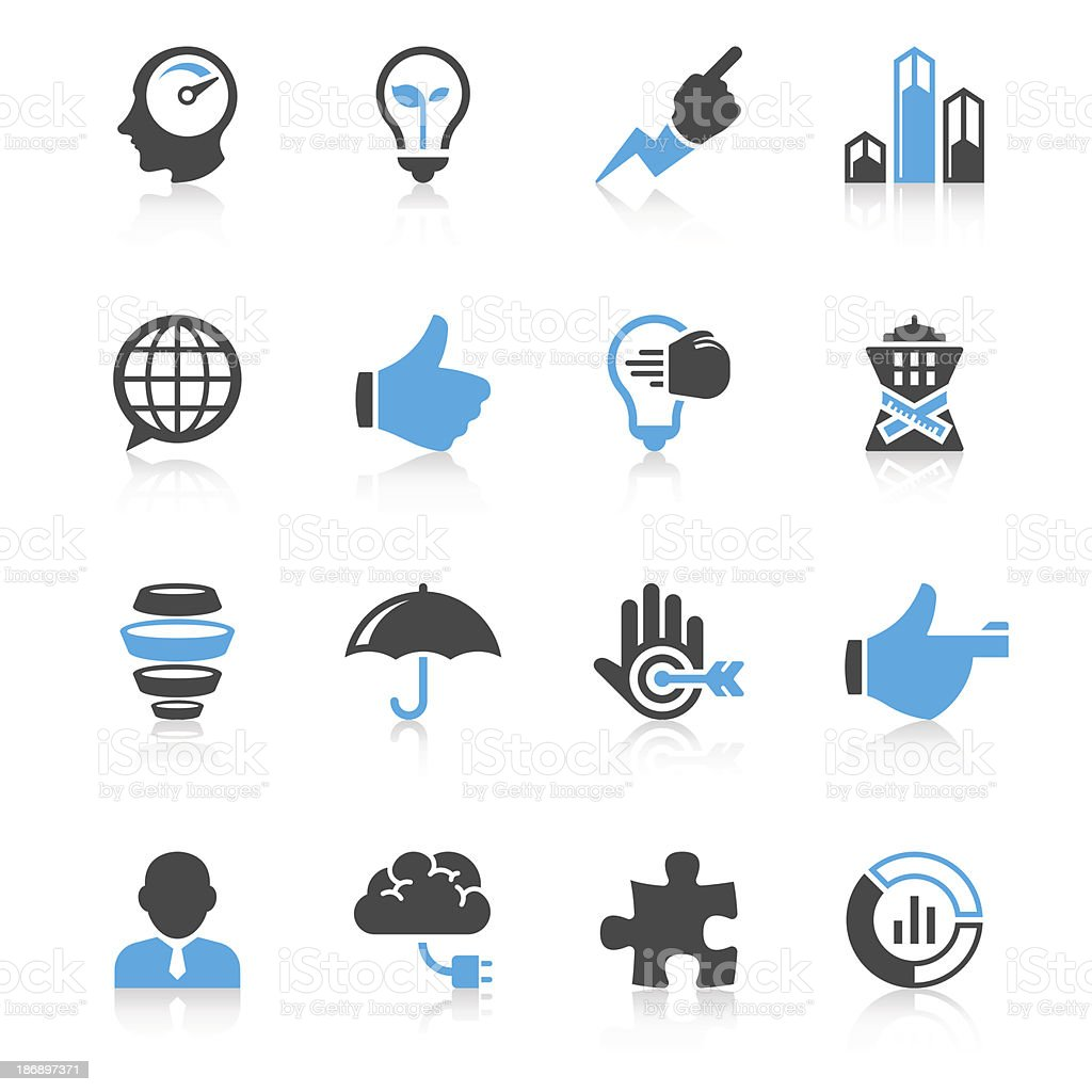 Dark grey and blue business clip art royalty-free stock vector art