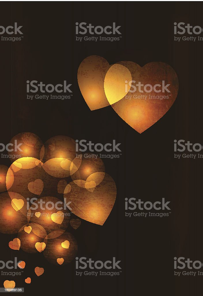 Dark Grungy vector hearts background royalty-free stock vector art