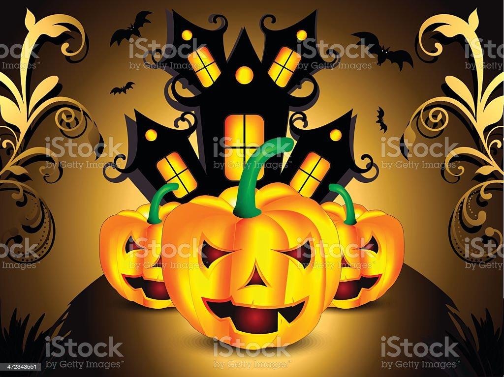 Dark halloween background royalty-free stock vector art