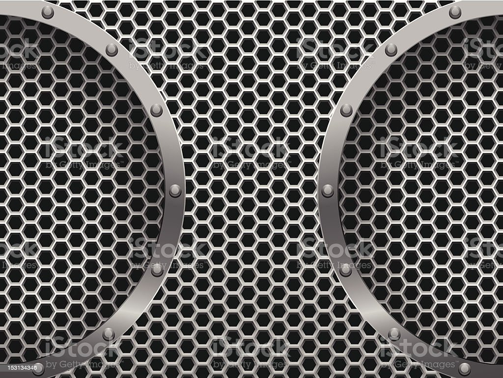 Dark hexagon metal grill royalty-free stock vector art