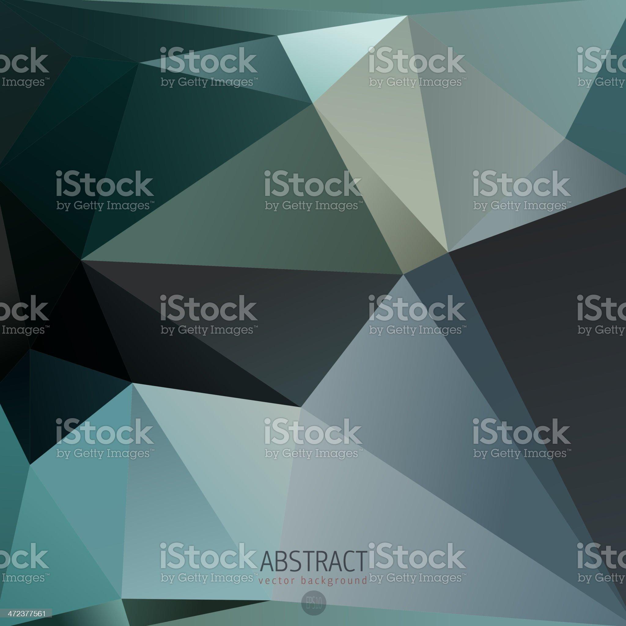 Dark Mosaic triangle background royalty-free stock vector art