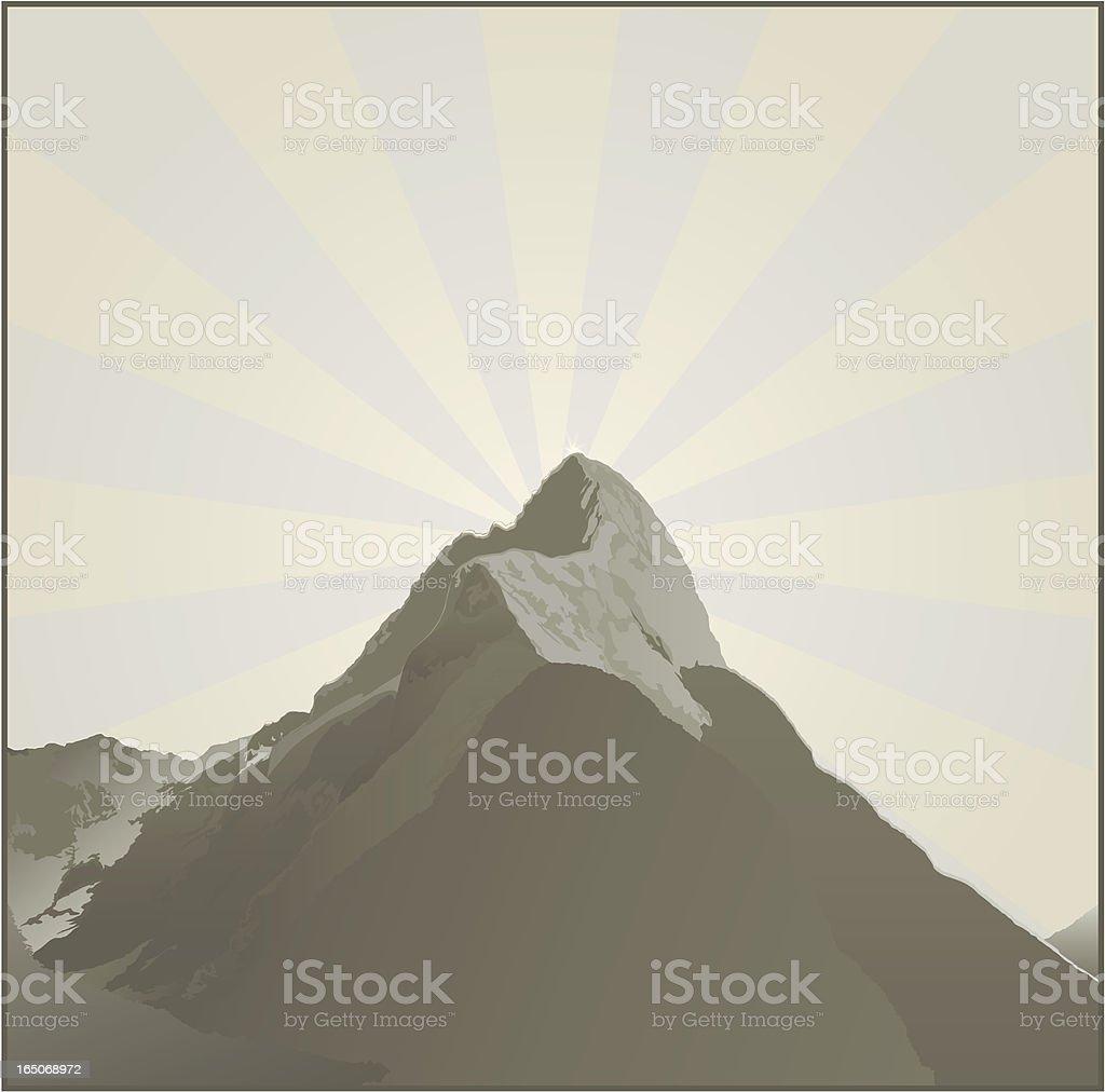 Dark Mountain vector art illustration