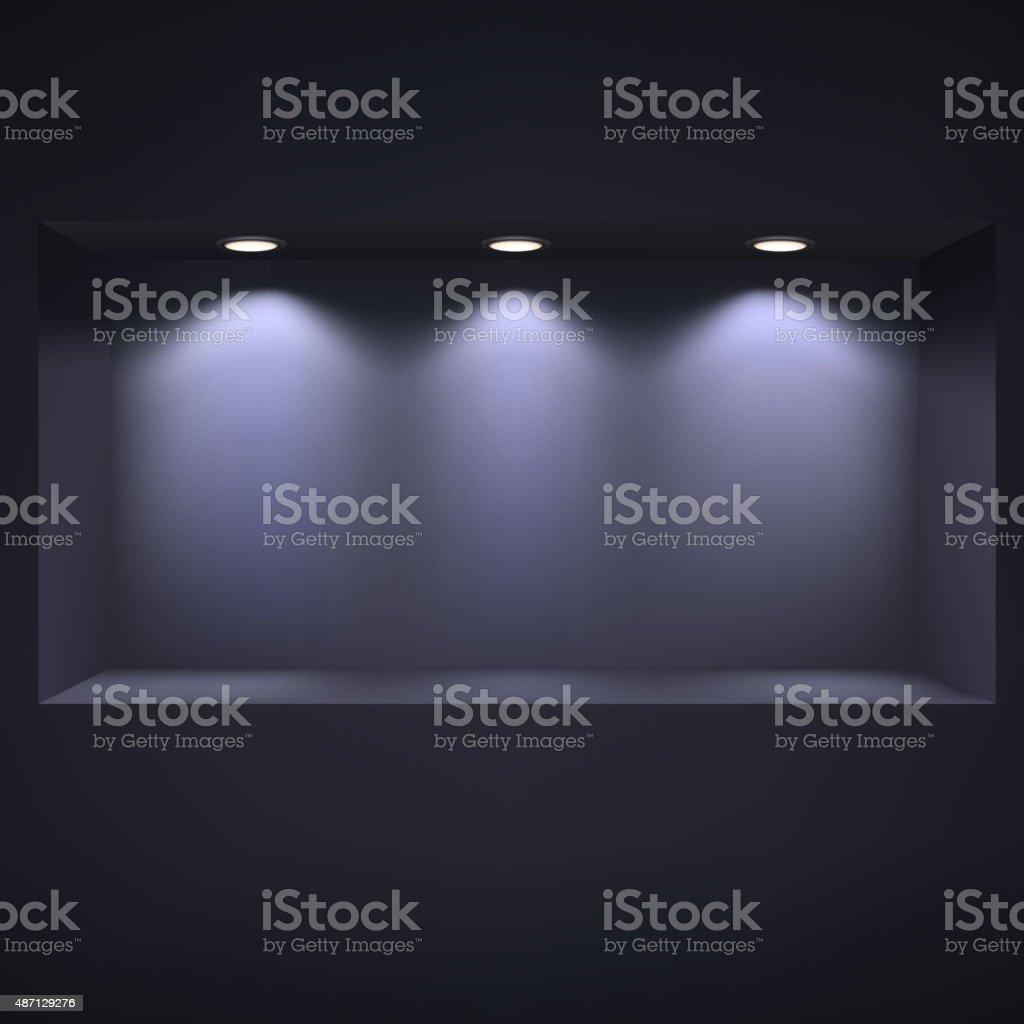 Dark niche for presentations. vector art illustration