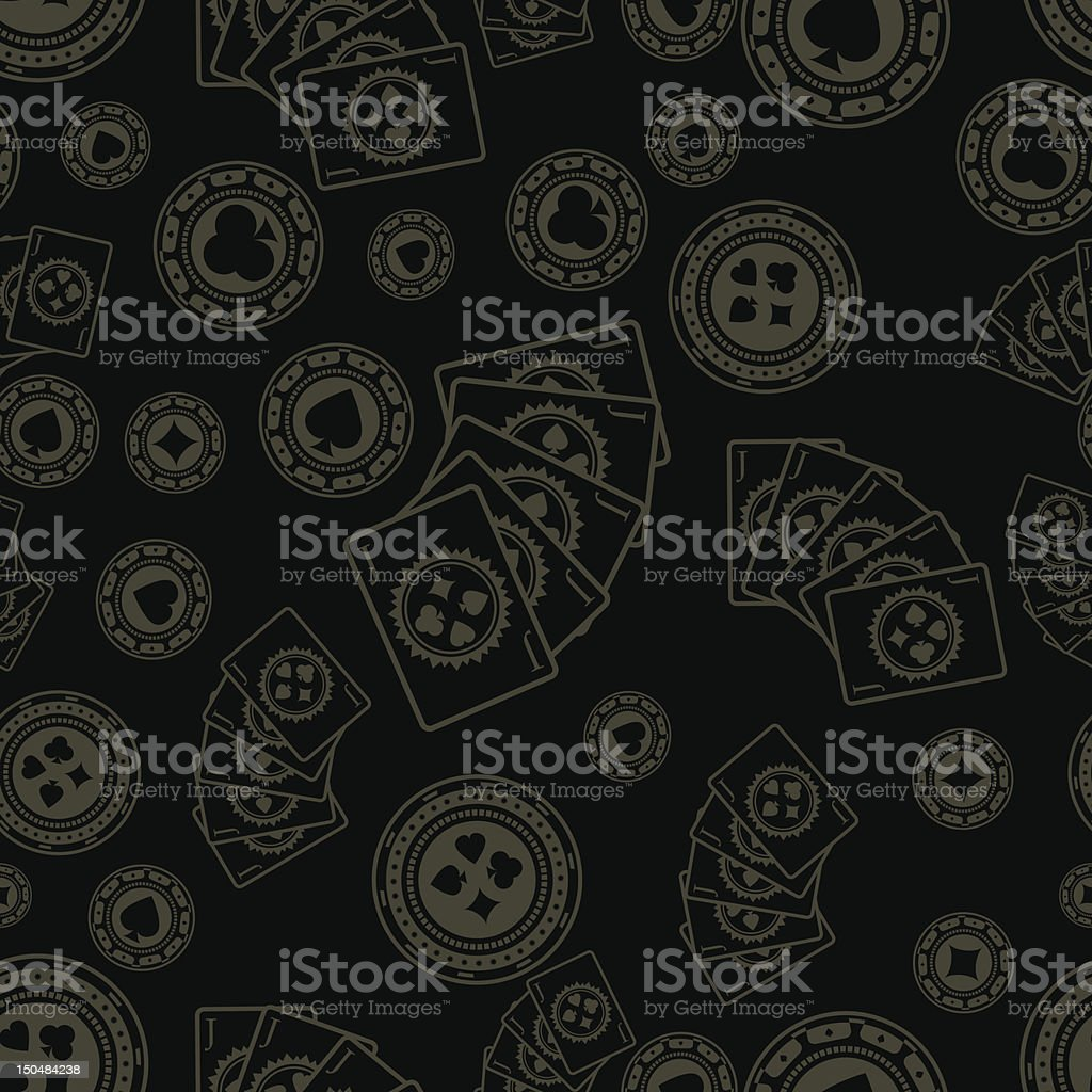 Dark poker pattern royalty-free stock vector art