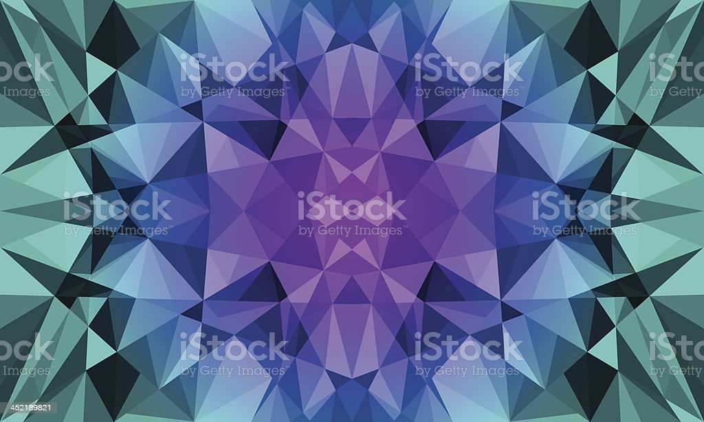 Dark Polygon Background royalty-free stock vector art