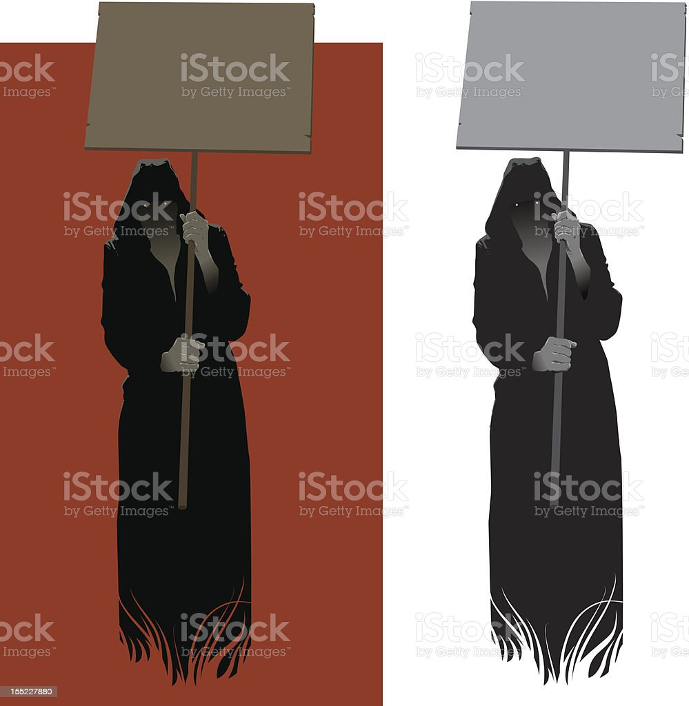 Dark Preacher vector art illustration