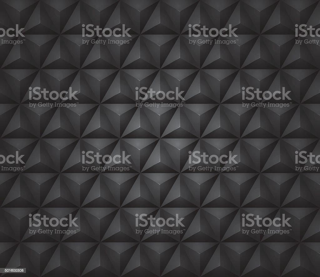 Dark Pyramid Texture Seamless vector art illustration