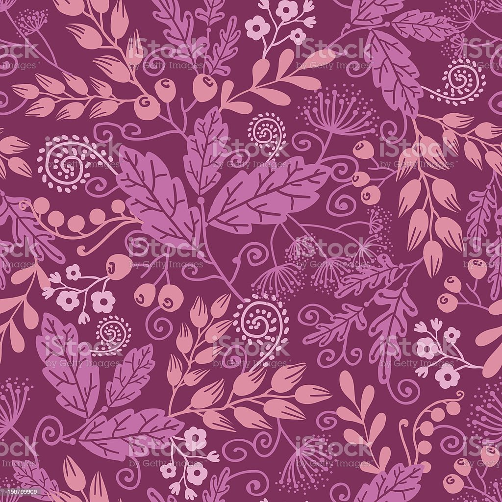Dark red floral seamless pattern royalty-free stock vector art