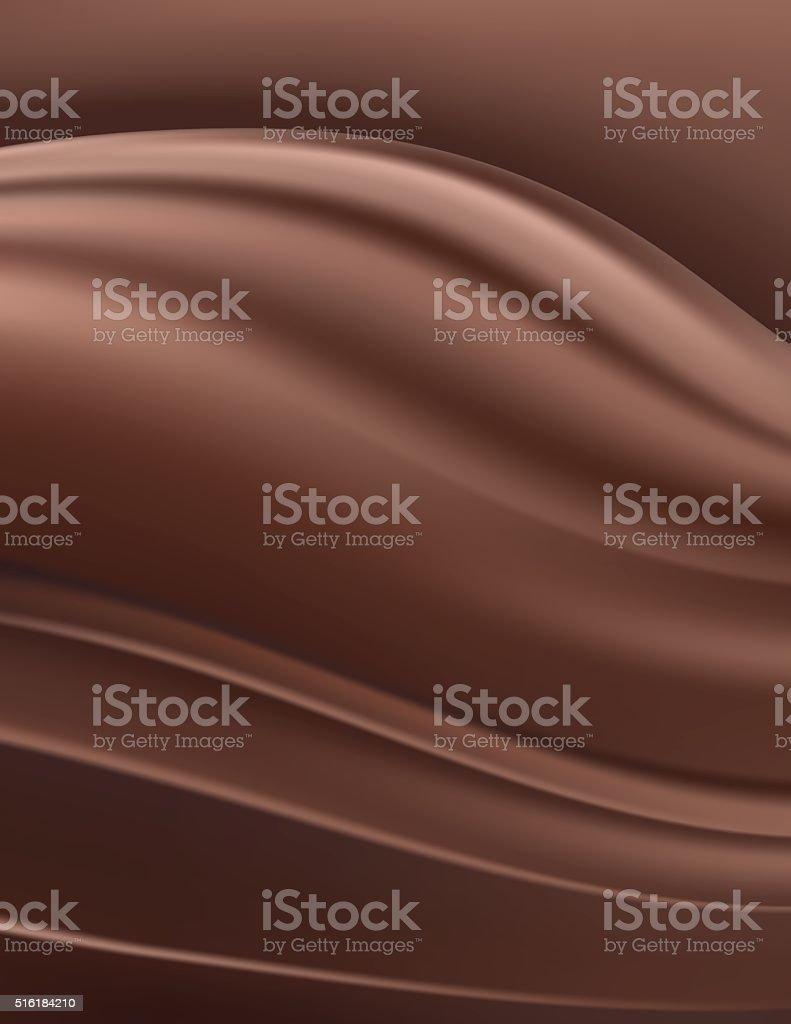 Dark Rich Chocolate Swirl Background vector art illustration
